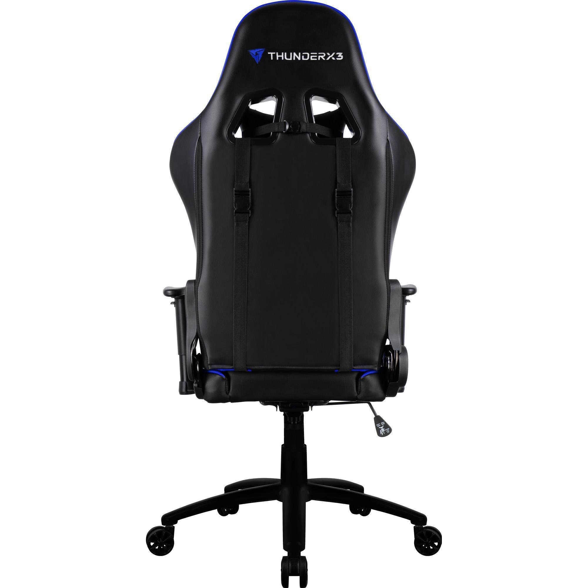 Cadeira Gamer Profissional TGC12 Preta/Azul - ThunderX3