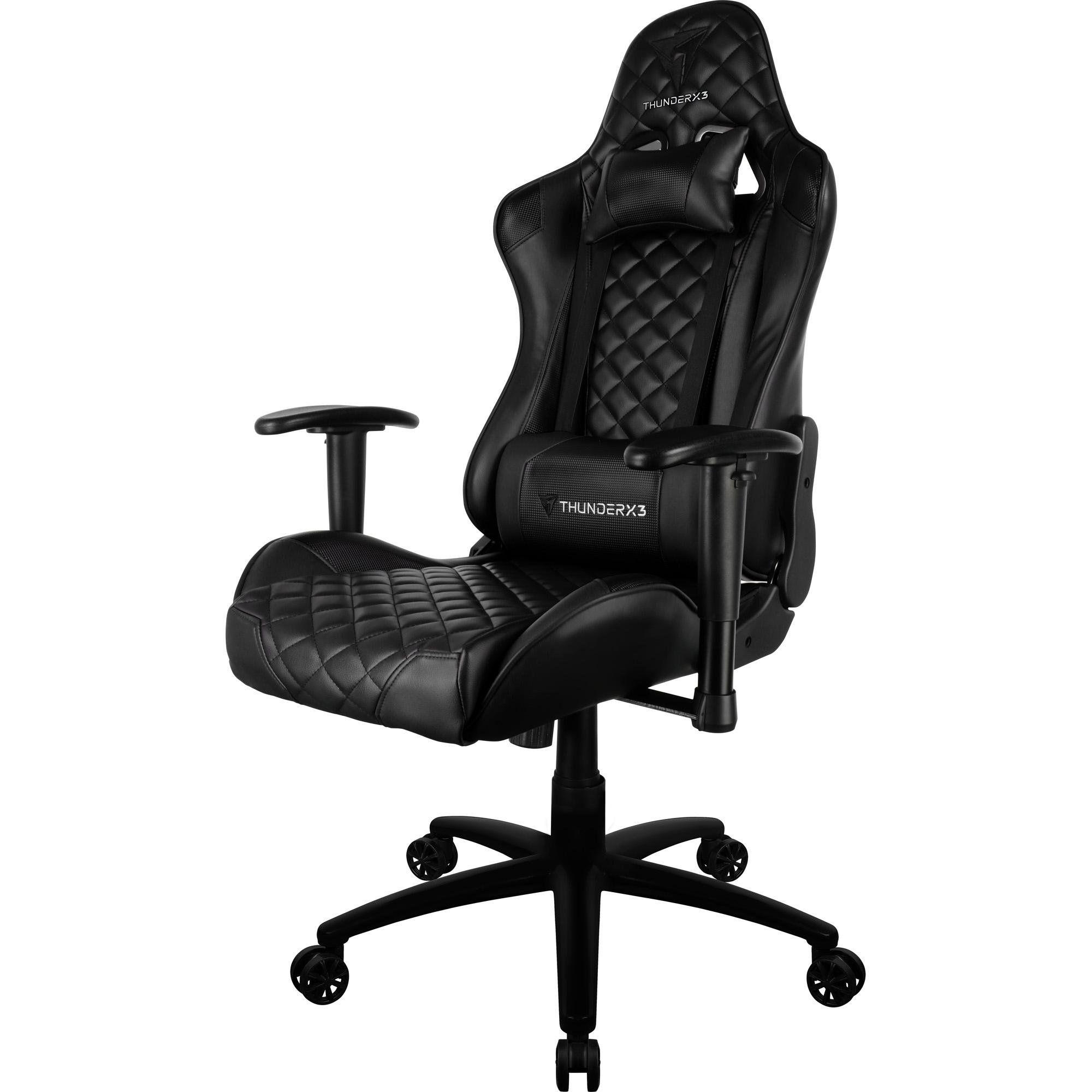 Cadeira Gamer Profissional TGC12 Preta - ThunderX3