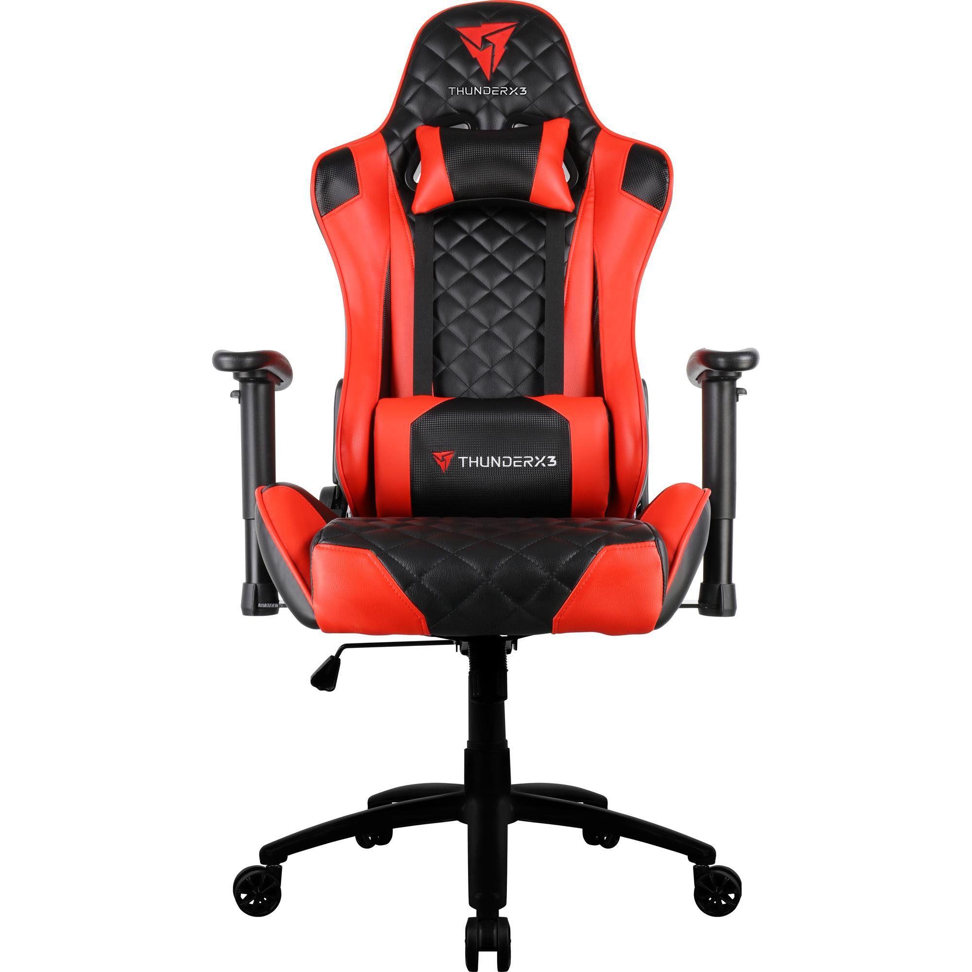 Cadeira Gamer Profissional TGC12 Preta/Vermelha - ThunderX3