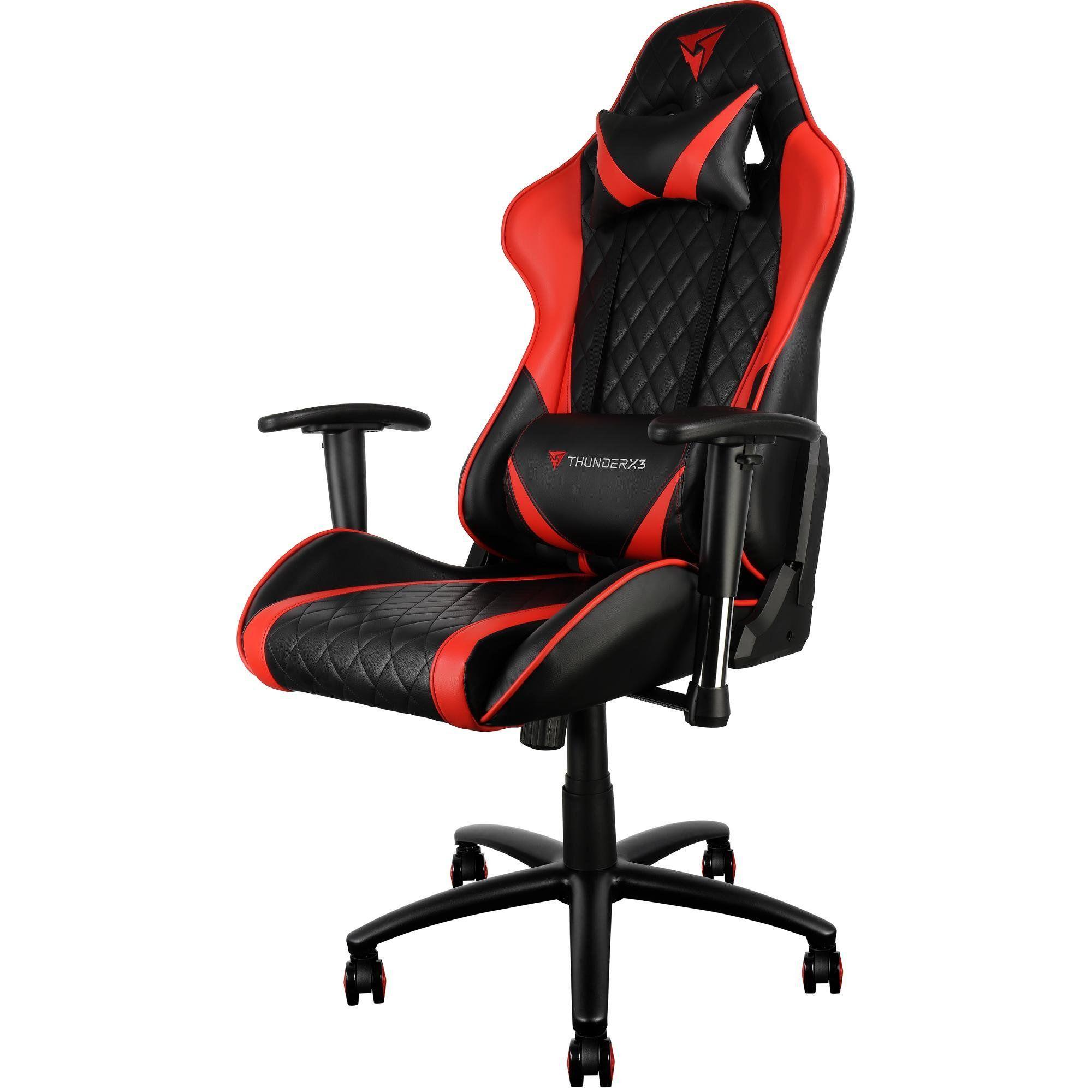 Cadeira Gamer Profissional TGC15 Preta/Vermelho - ThunderX3