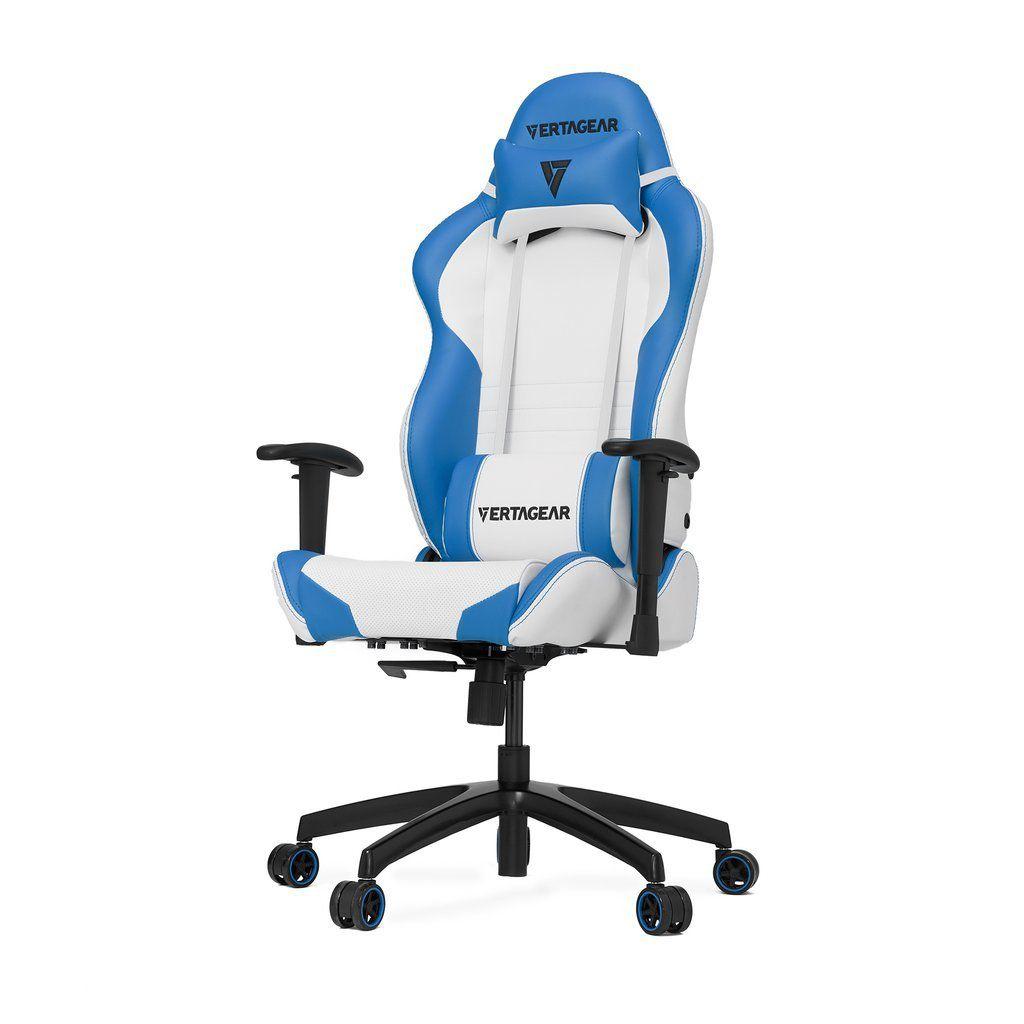 Cadeira Premium SL2000 Branca/Azul 11117-1 - Vertagear