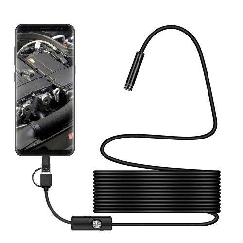 Câmera Endoscópica Inspeção 6 Led, Android/PC MNK-005 - Tomate