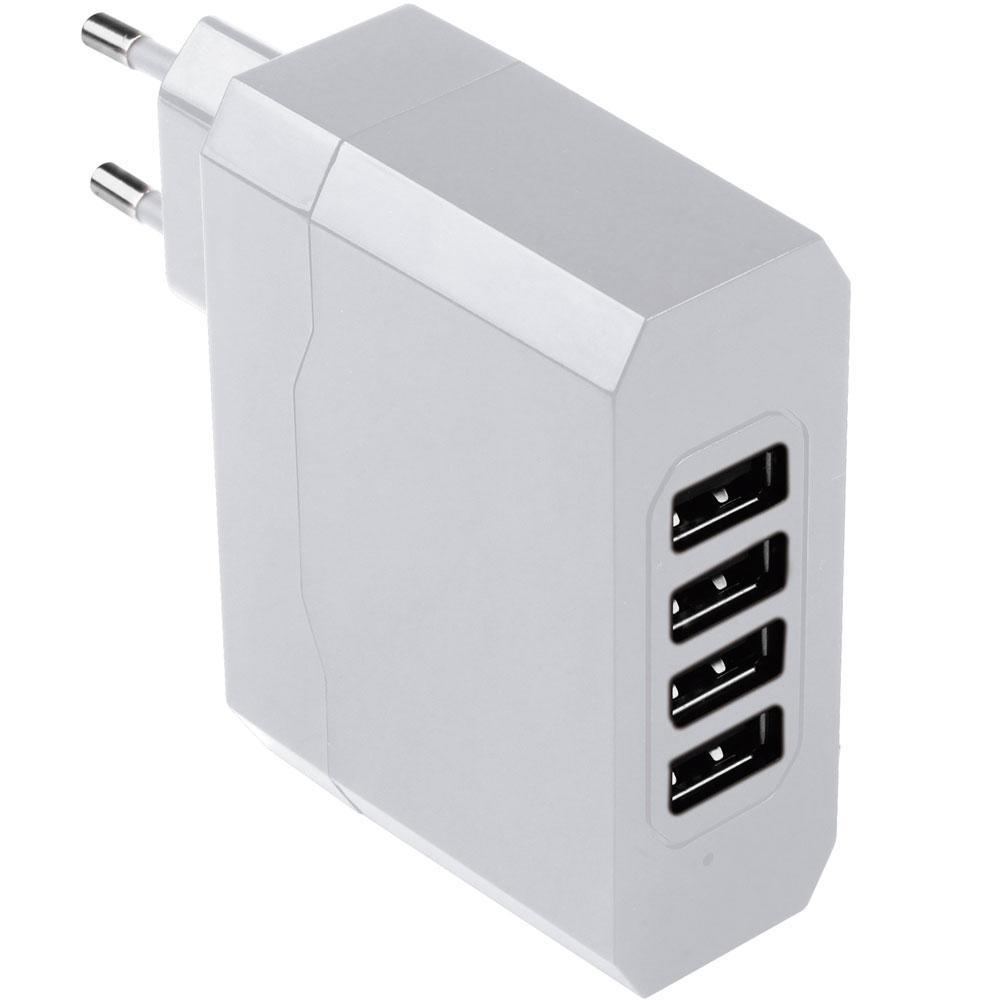 Carregador de Parede com 4 Saídas USB/ Bivolt/ 4.8A CB076 - Multilaser
