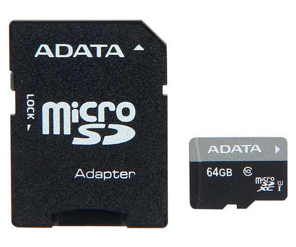 Cartão de Memória 64GB Class 10 SDXC AUSDX64GUICL10-RA1 - Adata