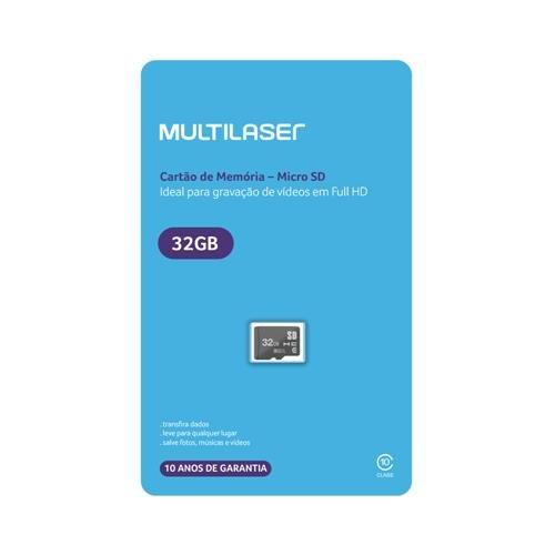 Cartão de Memória Micro SD 32GB Classe 10 MC145 - Multilaser
