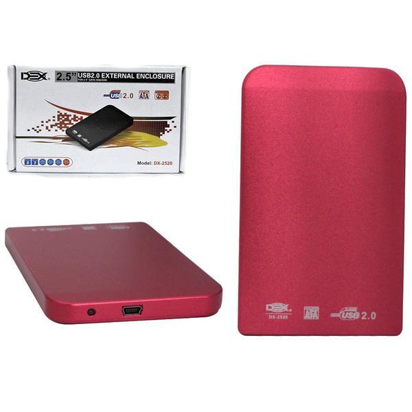 Case 2,5 USB 2.0 Vermelho DX-2520 (CS0030R) - Dex