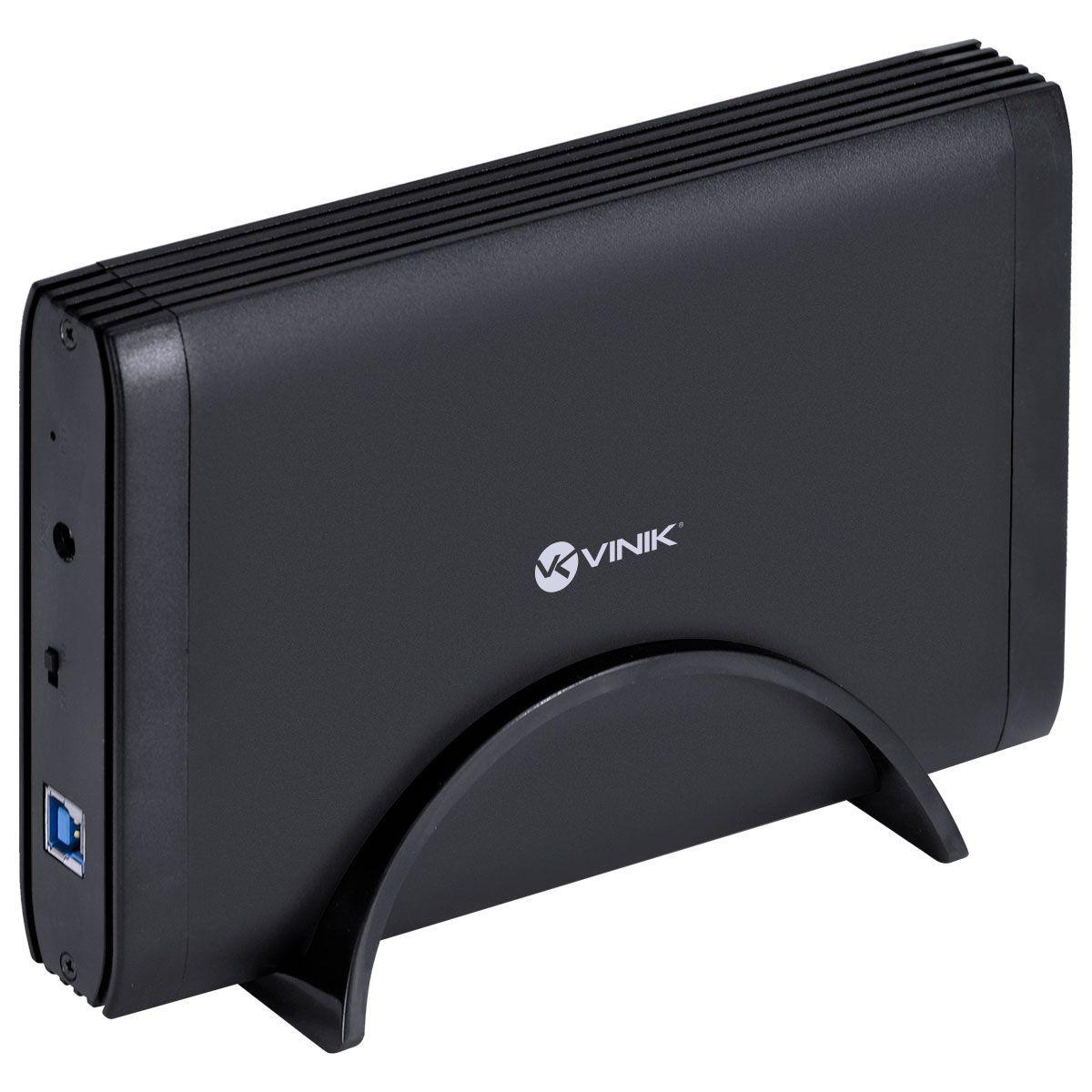 Case Externo para HD 3.5 USB 3.0 Tipo B com Chave I/O Preto CH35-30O 29858 - Vinik