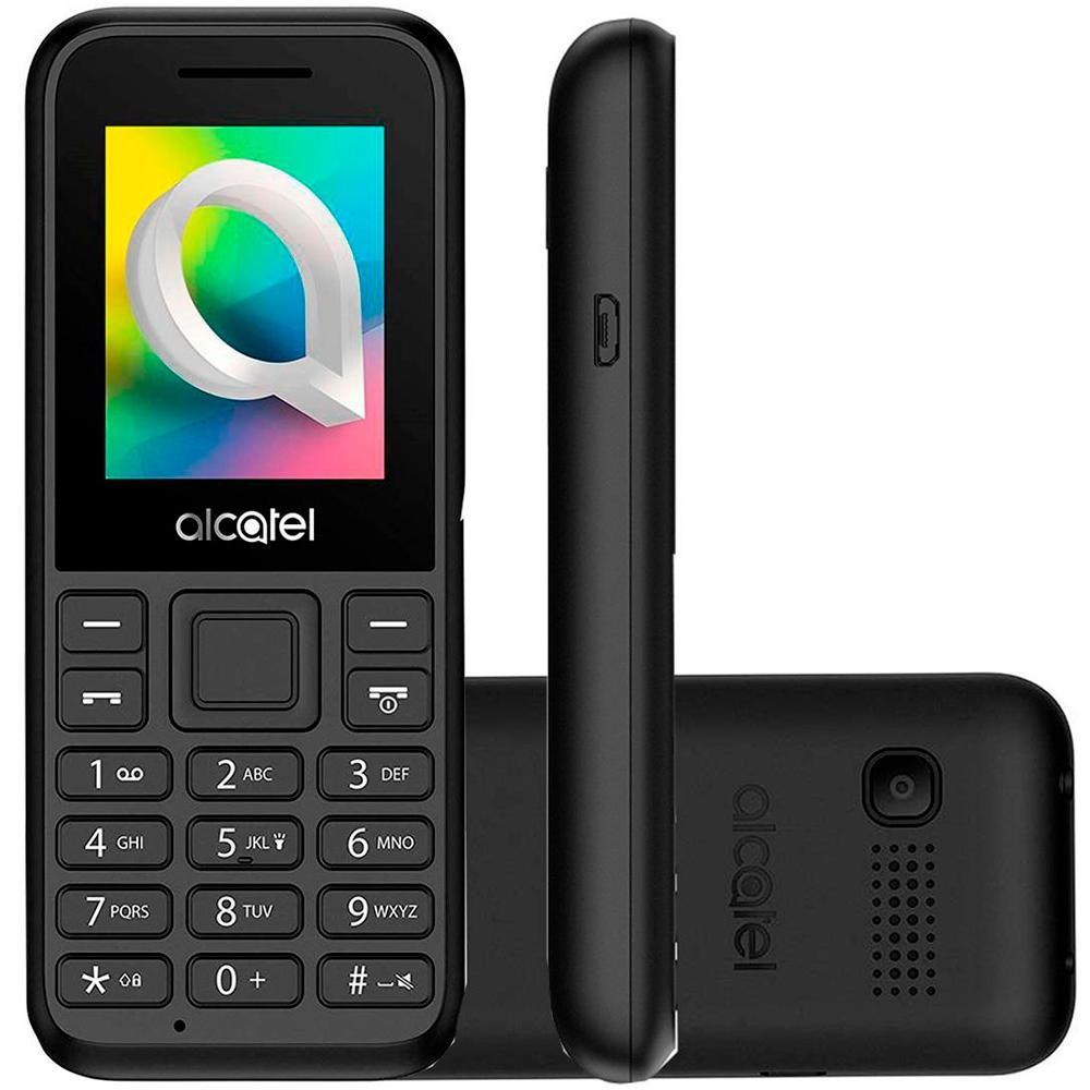 Celular 1066D, até 32GB, Tela 1.8, Câmera, Radio FM, MP3, Dual Chip, Preto - 1066D-2AALBR1 - Alcatel