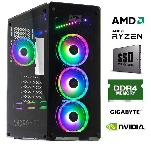 Computador AMD Ryzen 7 2700 3.2Ghz 20MB Memória 16GB DDR4 SSD M.2 1TB GeForce RTX 2060 6GB GDDR6 Fonte 700W