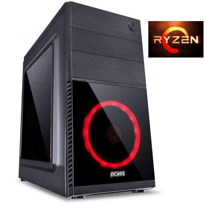 Computador Gamer Ryzen 2200G, Memória de 8GB DDR4, SSD de 240GB e Fonte de 400W - Glacon