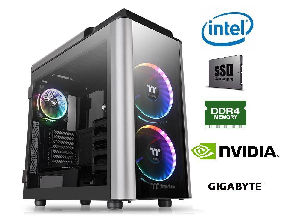 Computador Intel Core i9 9900K Memória 32GB DDR4 SSD M.2 2TB NVMe GeForce RTX 2080Ti 11GB Fonte 1000W Gabinete TT RGB