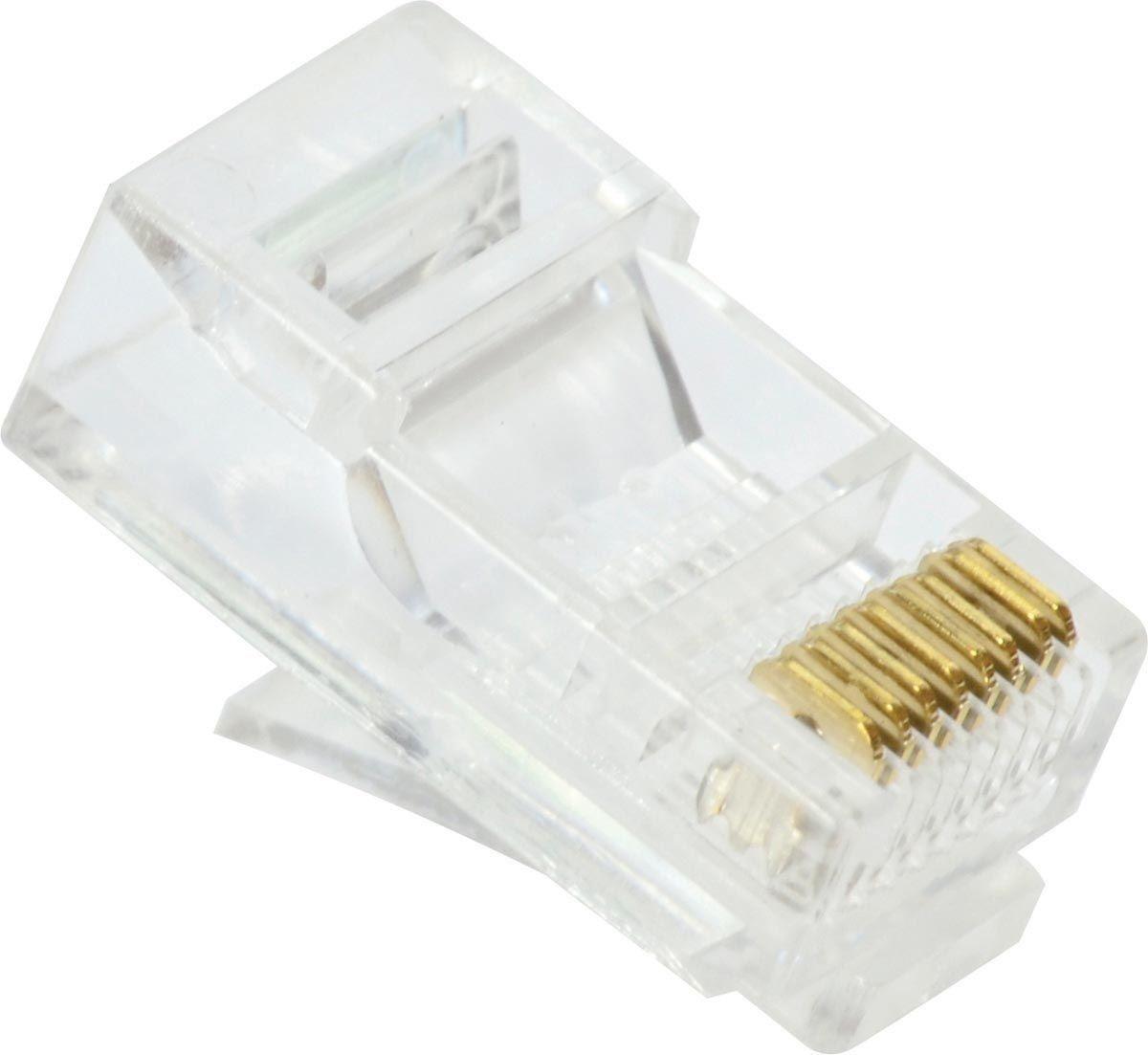 Conector RJ-45 8X8 CAT5E (UNIDADE) 23652 - Vinik