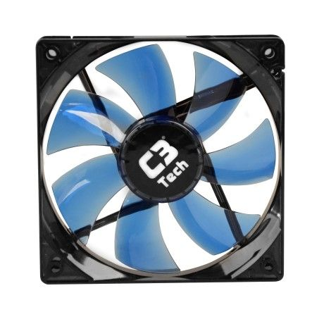 Cooler para Gabinete 120mm LED Azul F7-L100BL Storm - C3 Tech