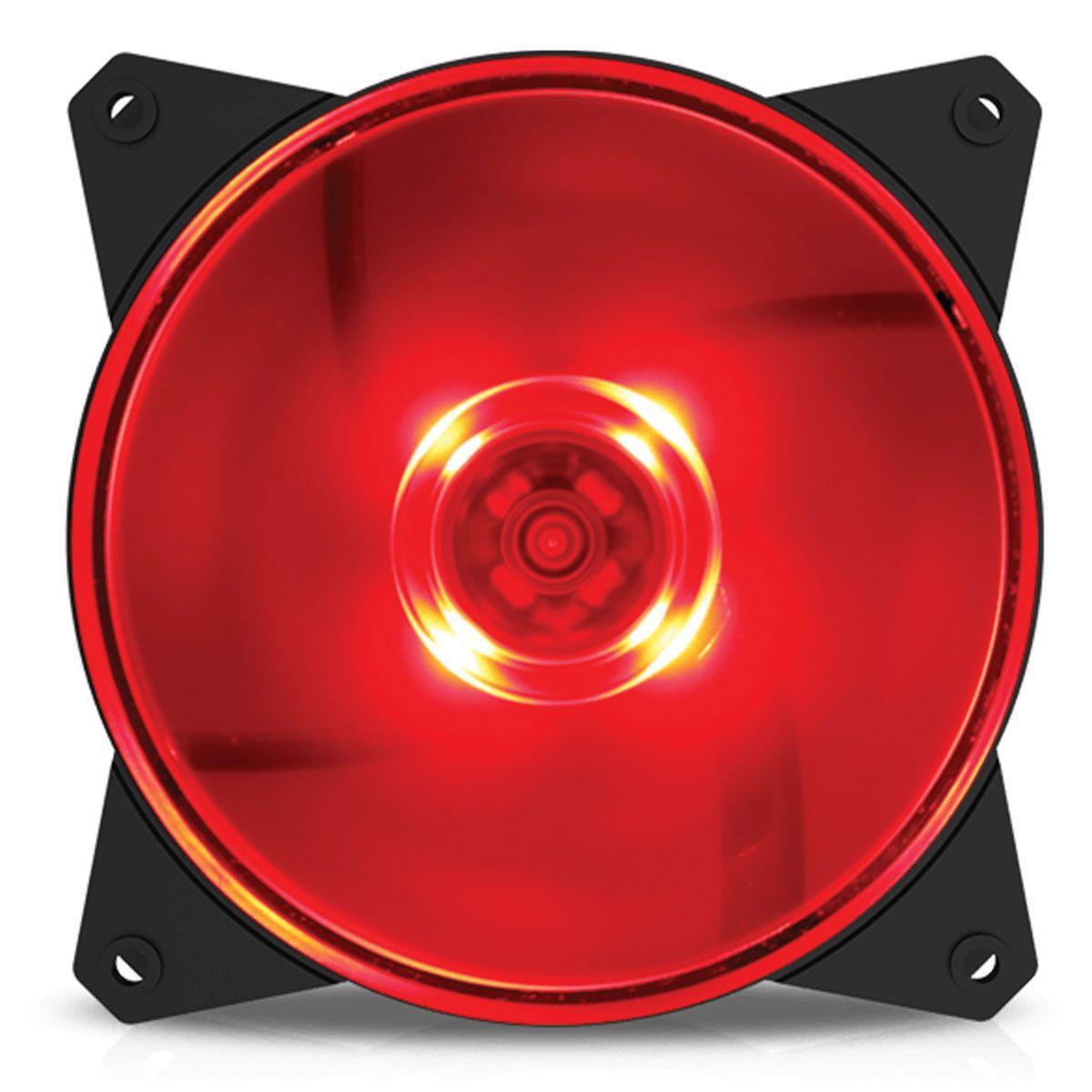 Cooler para Gabinete Masterfan 120mm MF120L Led Vermelho R4-C1DS-12FR-R1 - Coolermaster