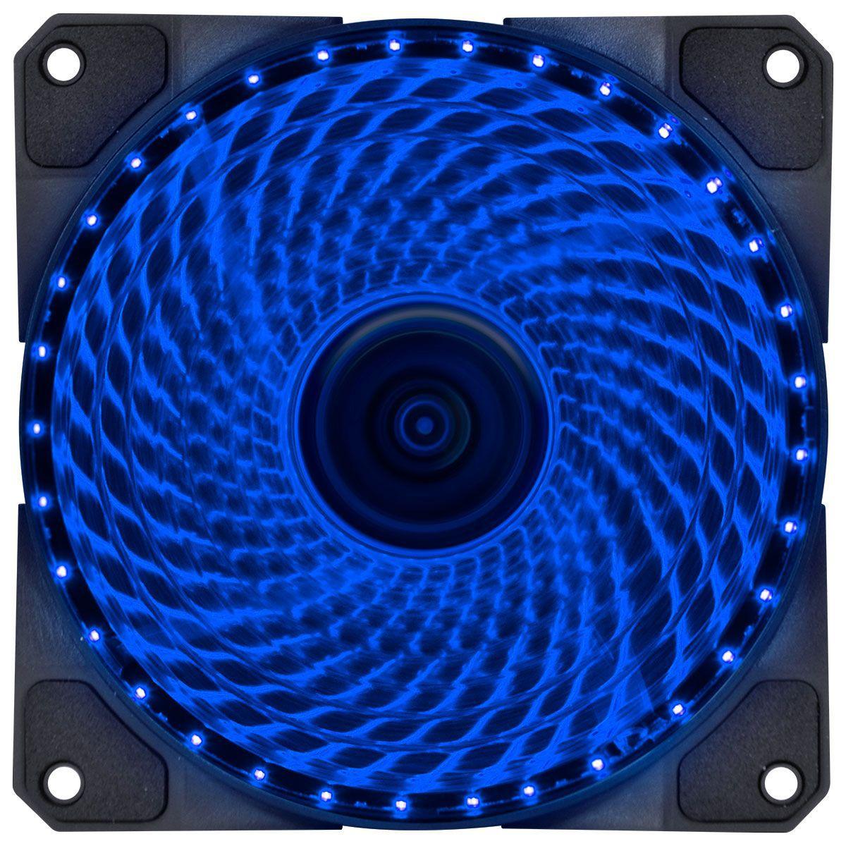 Cooler VX Gaming 120mm V.LUMI 33 Pontos de LED AZUL 29561 - Vinik