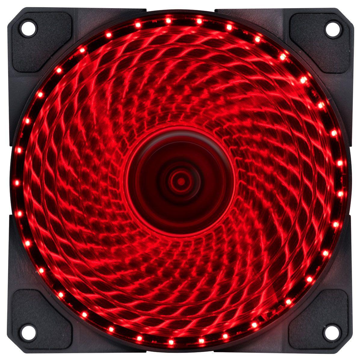 Cooler VX Gaming 120mm V.LUMI 33 Pontos de LED Vermelho 29560 - Vinik
