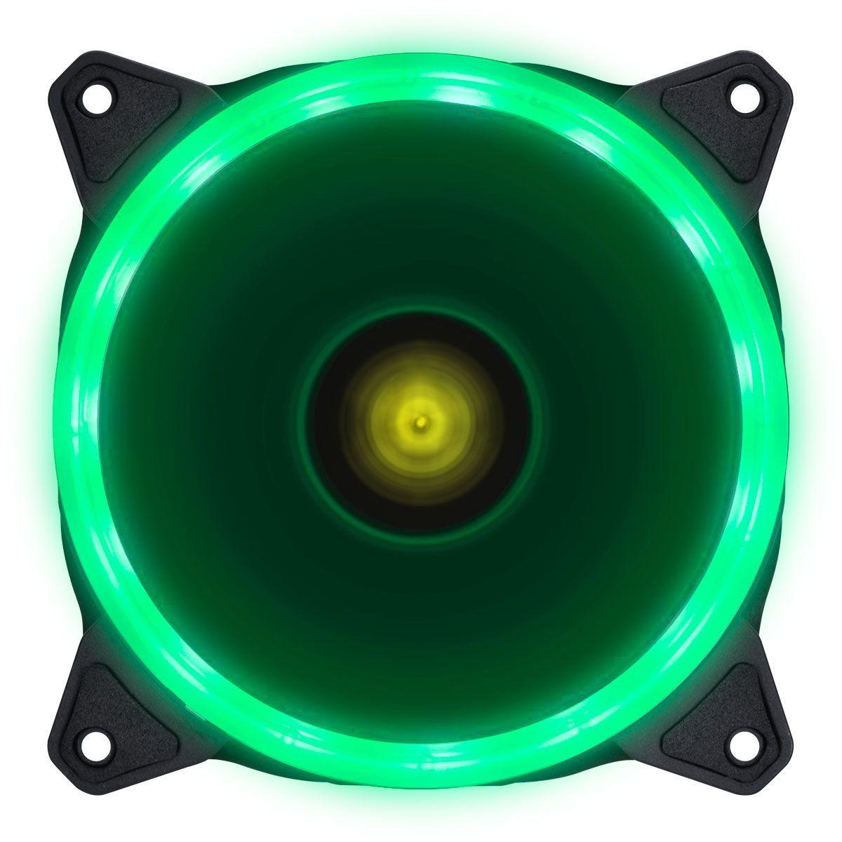 Cooler VX Gaming para Gabinete V.Ring Anel de Led 120X120MM Verde 29566 - Vinik