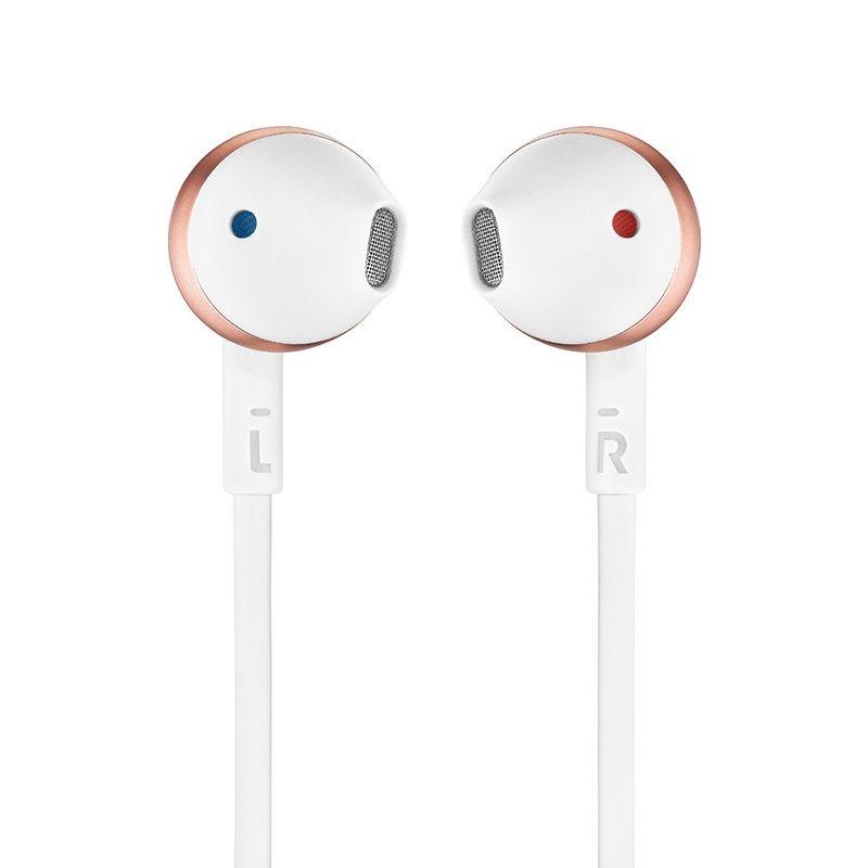 Fone de Ouvido Auricular com Microfone T205 Branco/Ouro Rose JBLT205RGD - JBL
