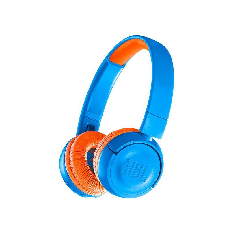 Fone de Ouvido com Microfone Bluetooth JBL JR300BT Azul (JBLJR300BTUNO) (Audio Seguro para Crianças) - JBL