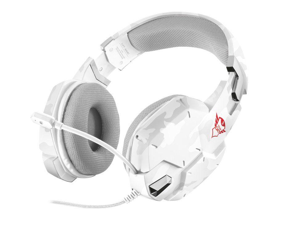 Fone de Ouvido com Microfone Gamer GXT 322 Carus Snow Camo White T20864 - Trust