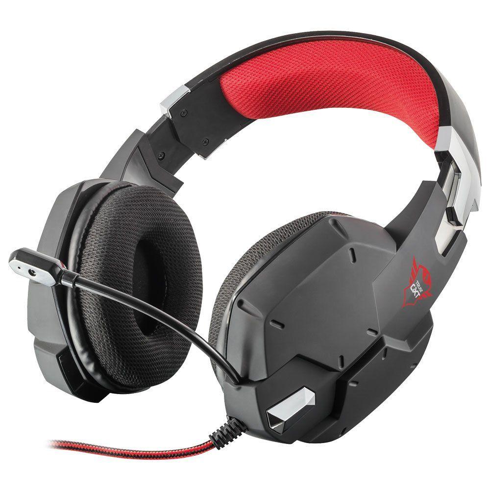 Fone de Ouvido com Microfone Gamer GXT 322 Dynamic Carus Black T20408 - Trust