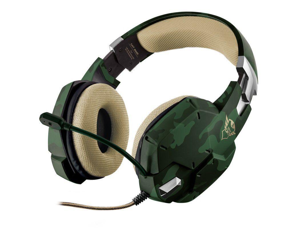 Fone de Ouvido com Microfone Gamer GXT 322 Jungle Carus Camuflado T20865 - Trust