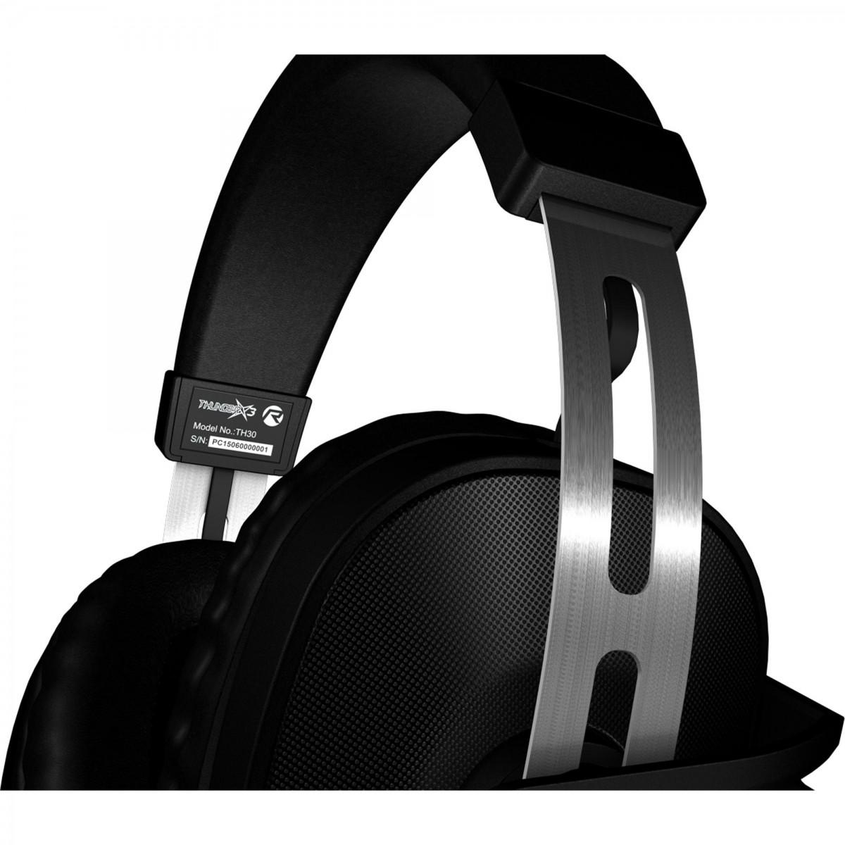 Fone de Ouvido com Microfone Gamer Profissional 2.1 TH30 Glow (LED Azul) Preto - ThunderX3