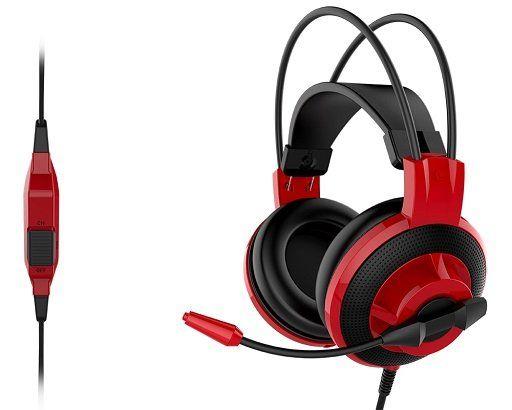 Fone de Ouvido com Microfone Gaming DS501 Preto/Vermelho - MSI