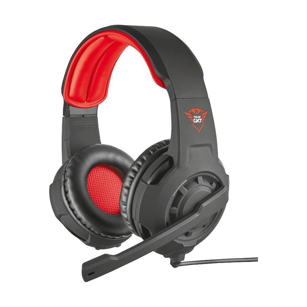 Fone de Ouvido com Microfone GXT 310 Radius Preto/Vermelho T21187 - Trust