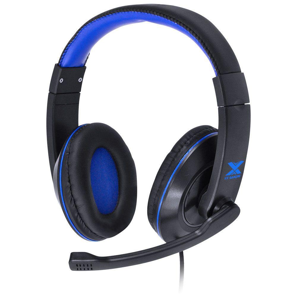 Fone de Ouvido com Microfone VX Gaming V Blade II Preto/Azul 29379 - Vinik