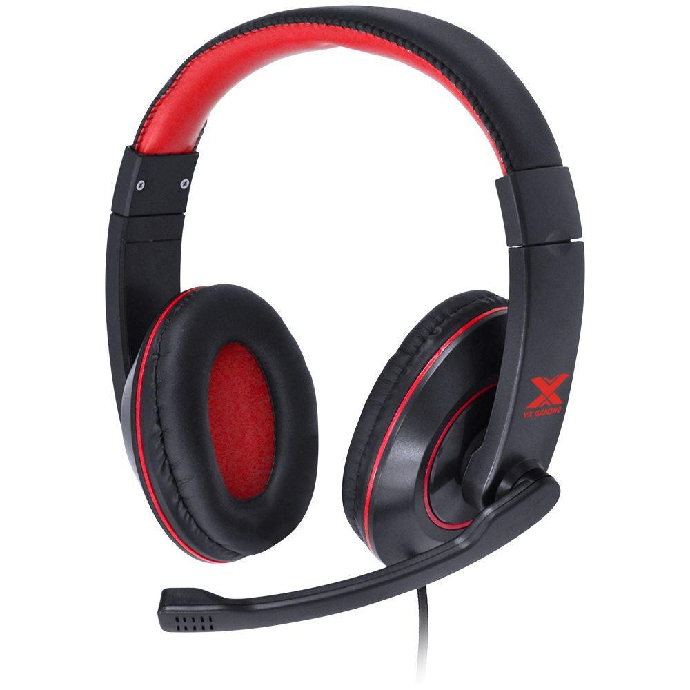 Fone de Ouvido com Microfone VX Gaming V Blade II Preto/Vermelho 29378 - Vinik