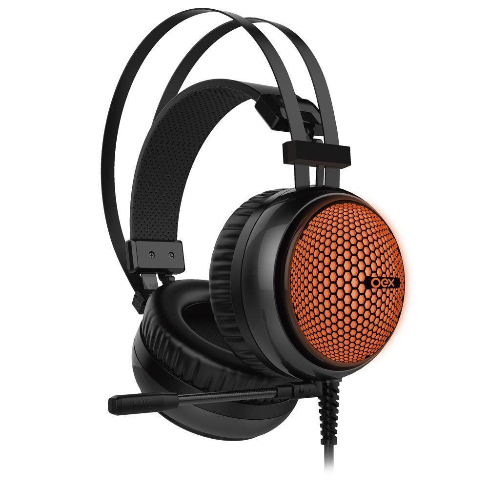 Fone de Ouvido Gamer com Microfone Hive HS405 (Iluminação LED) - OEX