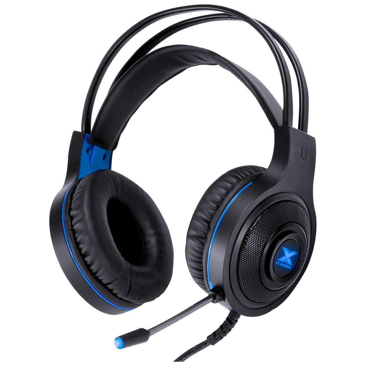 Fone de Ouvido GH300 VX Gaming LUGH LED Azul 31538 - Vinik
