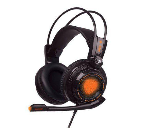 Fone de Ouvido Headset Extremor Game 7.1 HS400 Preto - OEX