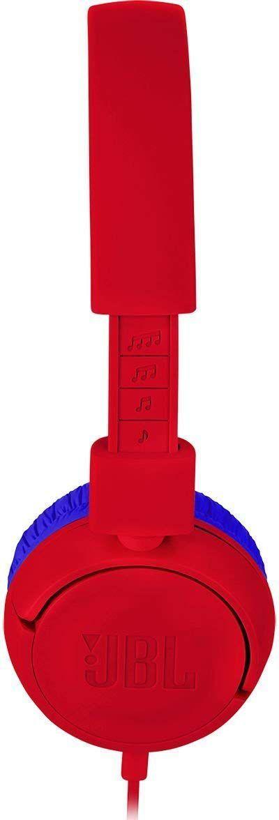 Fone de Ouvido JR300 (Projetado para Crianças) Vermelho/Azul JBLJR300RED - JBL