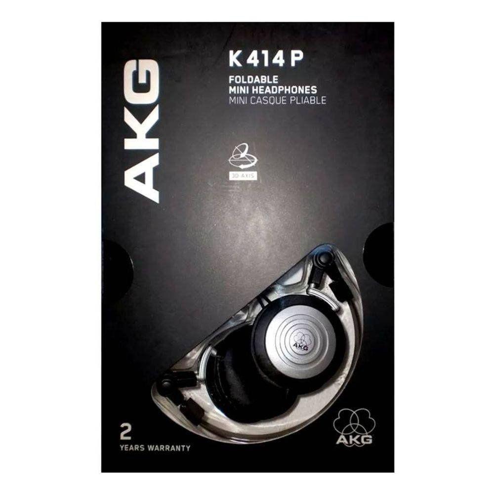 Fone de Ouvido Profissional Compacto K414P Mini Preto/Prata - AKG