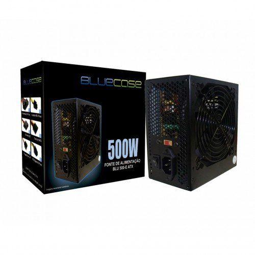 Fonte ATX 500W BLU500-E ATX (com cabo de Força) - Bluecase