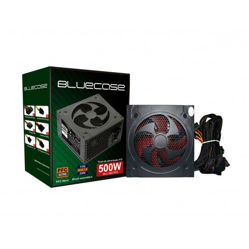 Fonte ATX 500W BLU500PFC (PFC Ativo) Sem Caixa/OEM - Bluecase