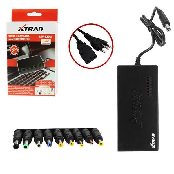 Fonte Universal para Notebook 10 Conectores 120W MY-120W - Xtrad