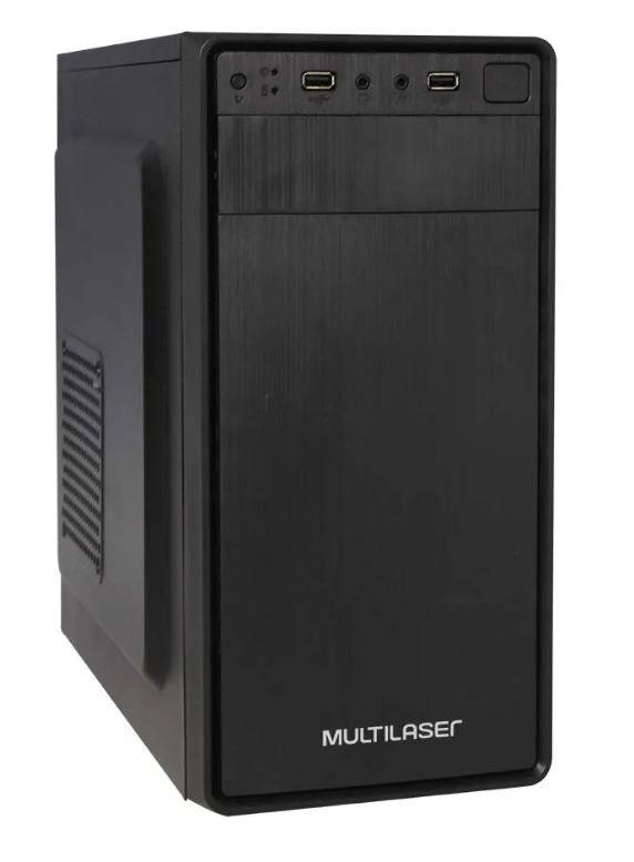 Gabinete ATX GA167 com Fonte 200W Preto - Multilaser