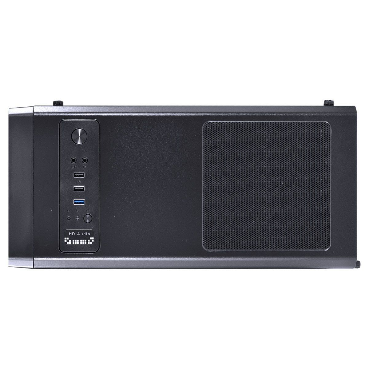 Gabinete ATX Gamer Lumia Preto com 7 Cores LED 3 Fans RGB e Acrílico Full Window 09GALM7-3RGB - Vinik