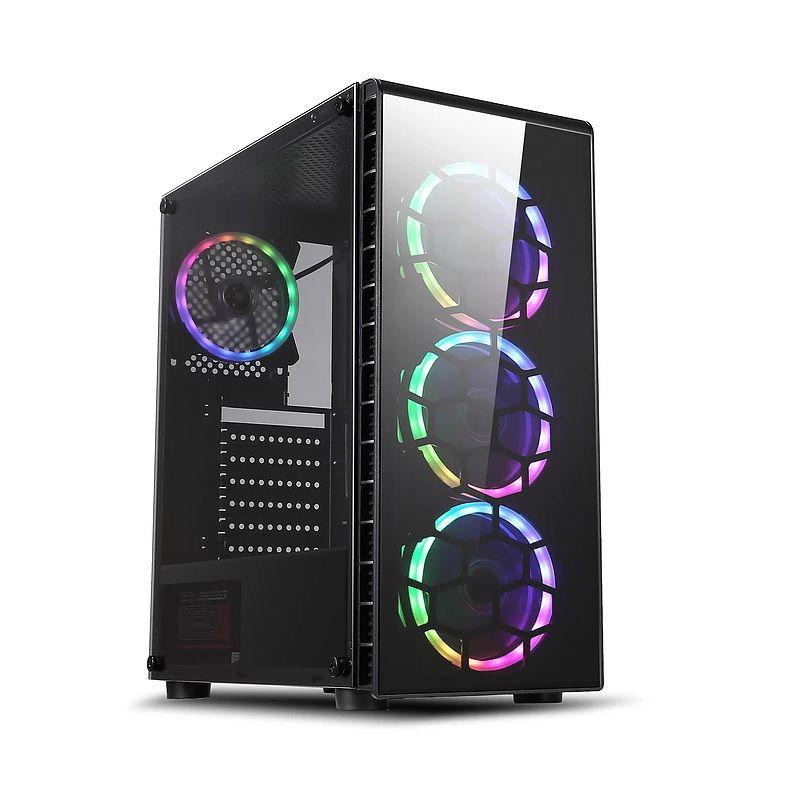 Gabinete ATX Gamer Pryzmat (Vidro Temperado com 3x Coolers 120mm RGB) - Liketec