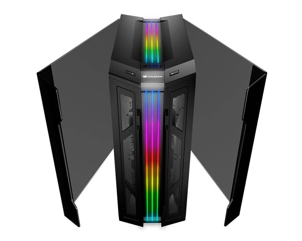 Gabinete ATX GEMINI T RGB Glass Wing Preto 11304-9 - Cougar