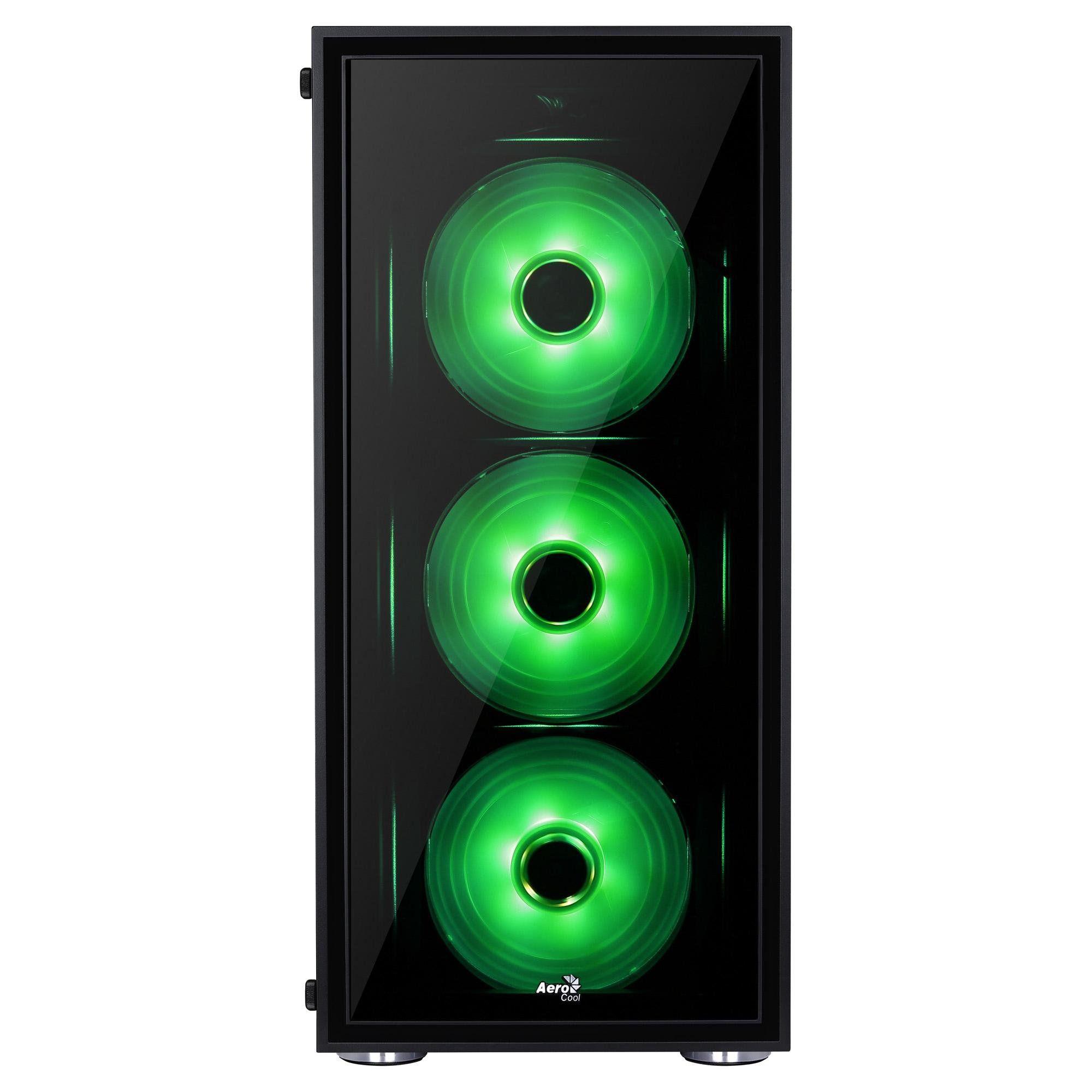 Gabinete ATX QUARTZ RGB Vidro Temperado Preto 64790 - Aerocool