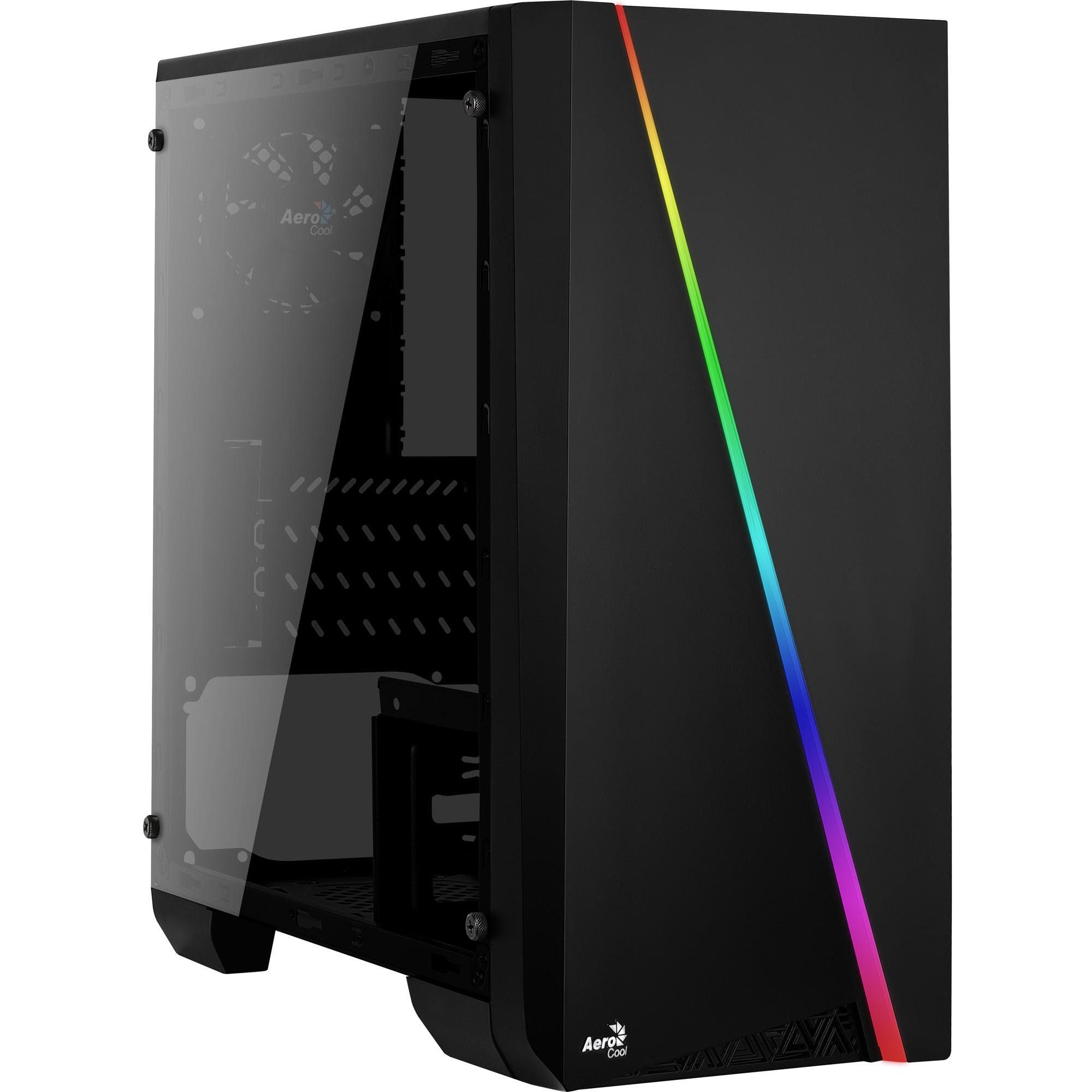 Gabinete Gamer Mini Tower RGB Mini Cylon Preto 67546 - Aerocool