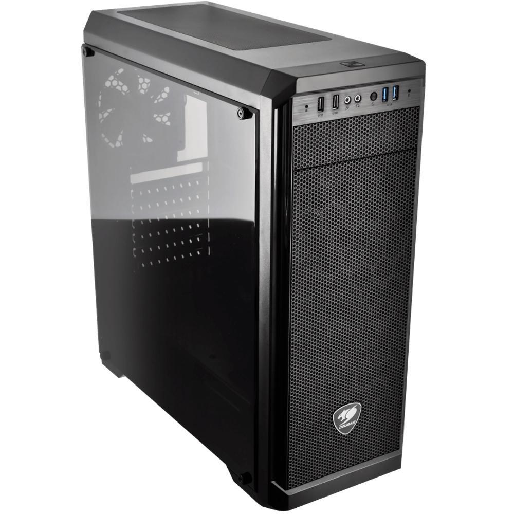 Gabinete Gamer MX330-G Mid Tower, 1 Cooler, Lateral de Vidro - Cougar