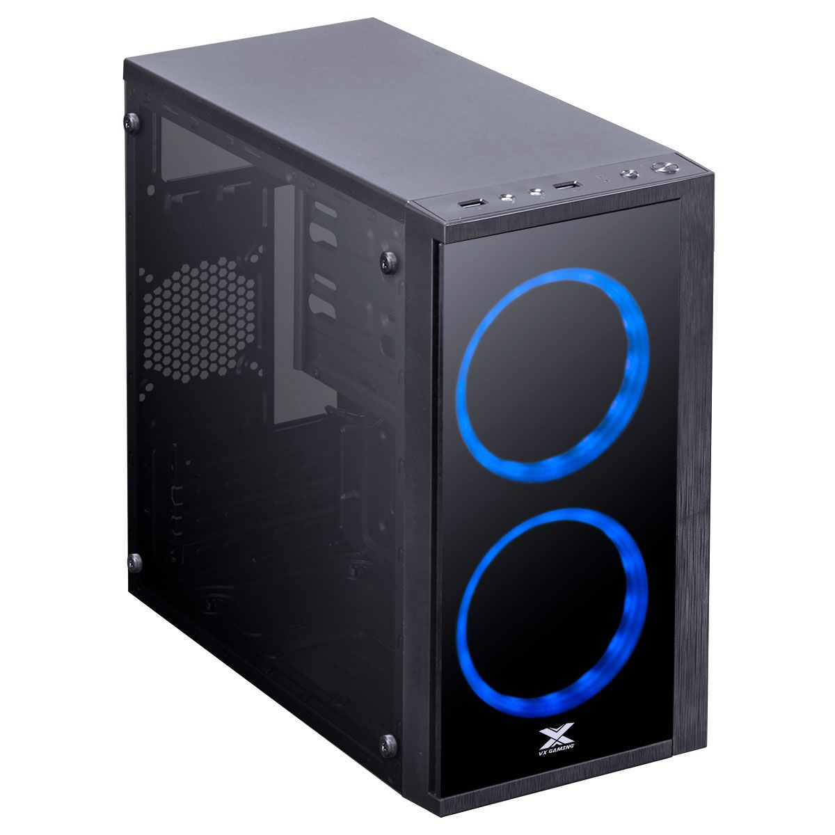 Gabinete Gamer VX Aries 2 Fan Frontal Led Azul 30711 - Vinik