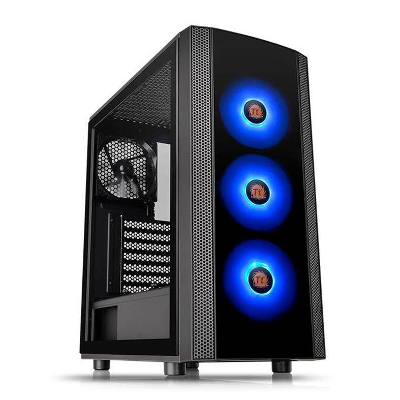 Gabinete TT Versa J25 TG RGB/BK/WIN/T.GLASS*1/MBSYNC CA-1L8-00M1WN-01 - Thermaltake