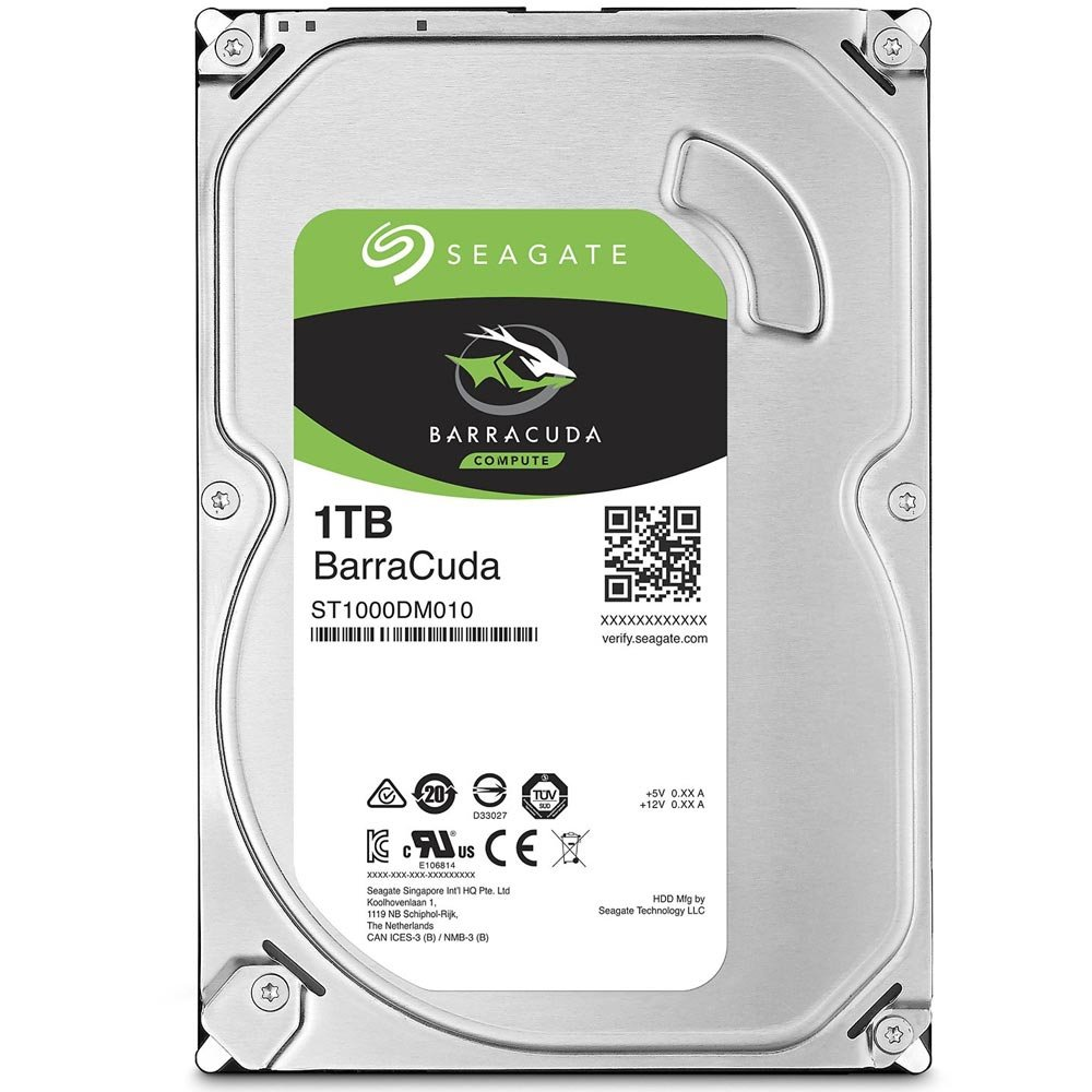 Hard Disk 1TB Sata III 3,5 Barracuda 7200RPM 64MB ST1000DM010 - Seagate