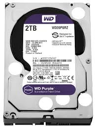 Hard Disk 2TB Purple Surveillance IntelliPower 64MB Sata III WD20PURZ - Western Digital